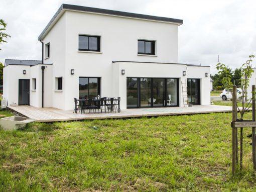 Construction d'une maison moderne dans le Finistère