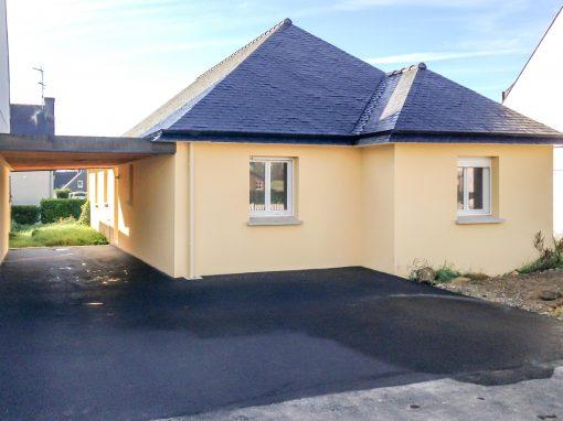 Construction d'une maison neuve de plain-pied près de Quimper