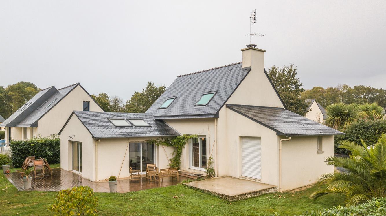 Extension maison traditionnelle ardoise