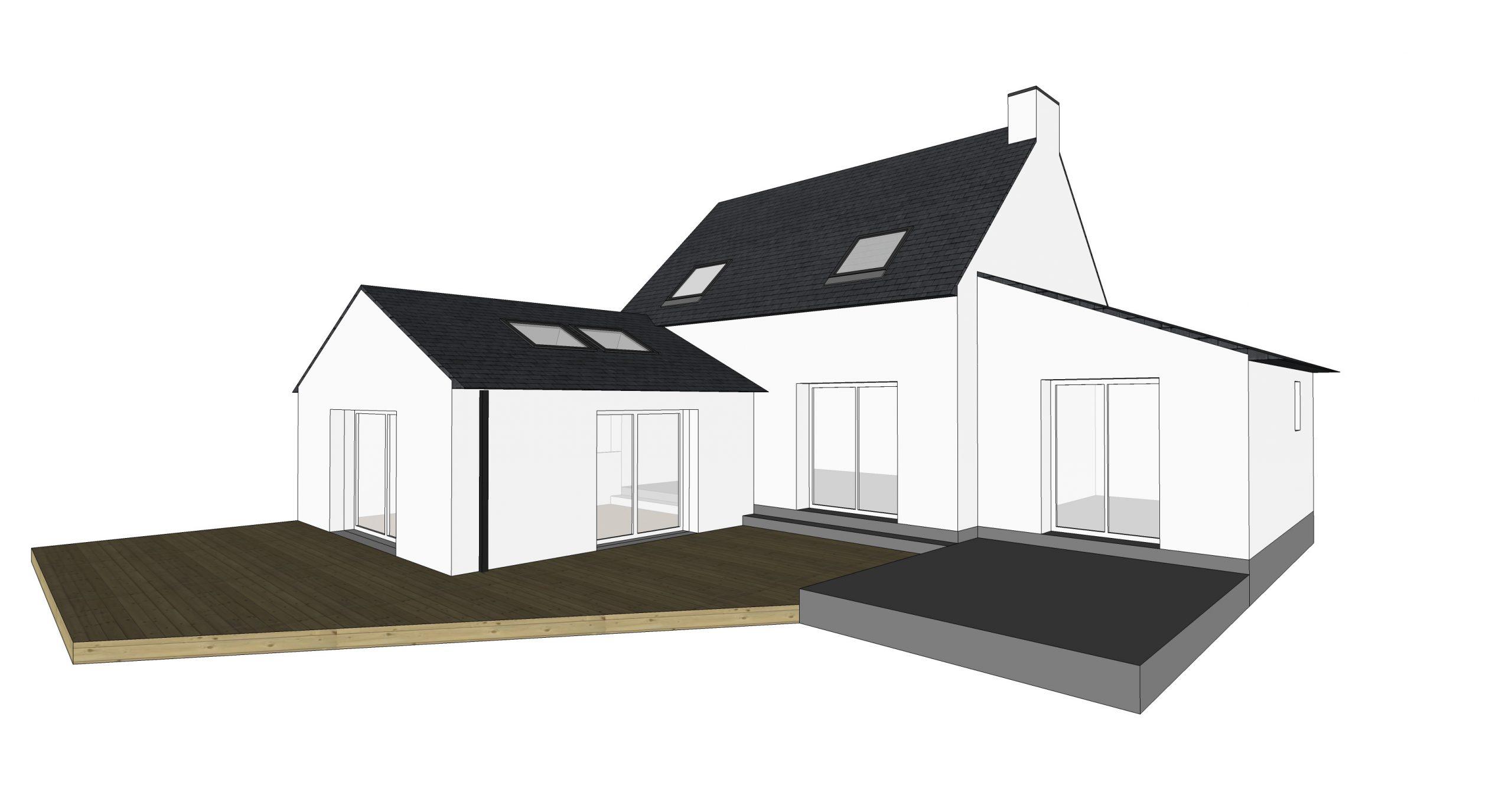 Modélisation 3D extension maison